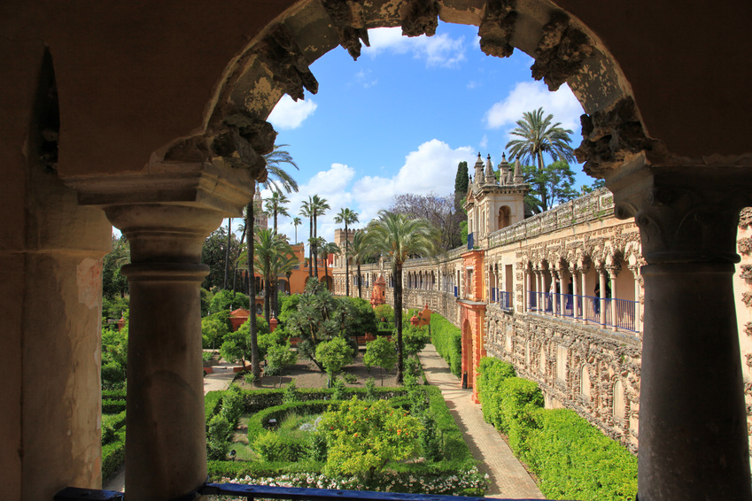 Gardens of Alcazar, Seville, Spain